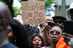 Community members, activist and elected officials convene to demand removal of 330 officers from street duty at a protest at Police Headquarters, in Philadelphia, PA on June 7, 2019. Philadelphia Police Department Commissioner Richard Ross announced an outside law firm to review the Plain View Project's database with racist or offensive social media posts by (past and current) officers .