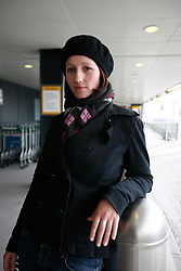 UK ENGLAND LONDON 15APR10 - Stranded airline passenger Jacqueline Gernert (26) from Eschborn stands at Heathrow's Terminal 1 awaiting further news of air traffic. Today the UK's airspace was totally closed due to high altitude ash clouds after a volcanic eruption in Iceland...jre/Photo by Jiri Rezac..© Jiri Rezac 2010