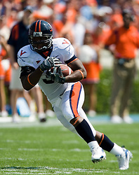 Virginia fullback Rashawn Jackson (31)..The North Carolina Tar Heels football team faced the Virginia Cavaliers at Kenan Memorial Stadium in Chapel Hill, NC on September 15, 2007.  UVA defeated UNC 22-20.