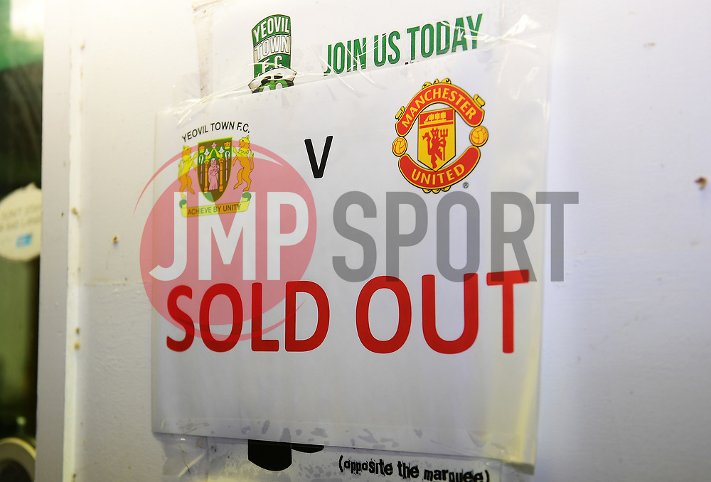 Yeovil Town is sold out  - Mandatory by-line: Alex Davidson/JMP - 26/01/2018 - FOOTBALL - Huish Park - Yeovil, England -  v Manchester United - Emirates FA Cup fourth round proper