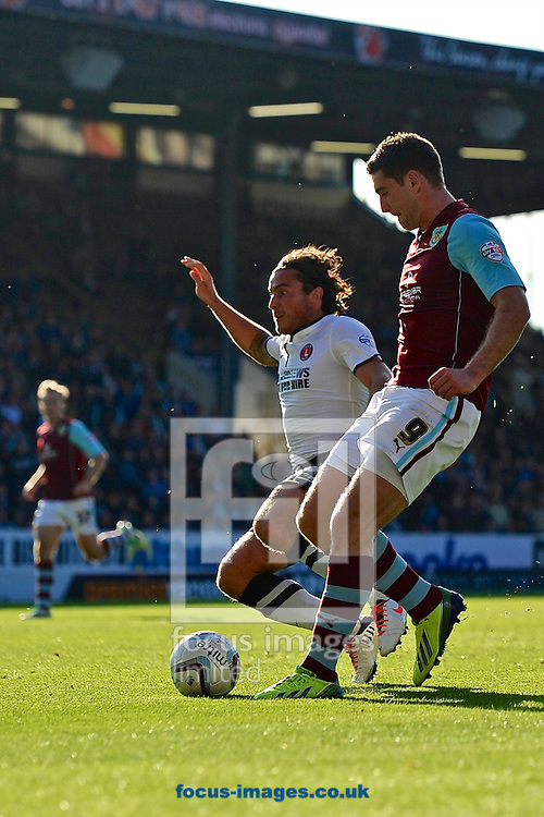 Picture by Ian Wadkins/Focus Images Ltd +44 7877 568959<br /> 28/09/2013<br /> Sam Vokes of Burnley scores to make it 2-0 during the Sky Bet Championship match at Turf Moor, Burnley.