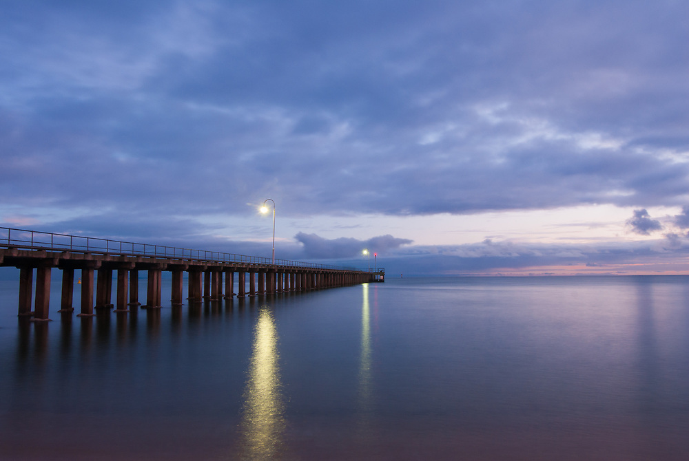 Jetty at holiday town of Dromana on the Mornington Peninsula.