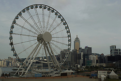 September 6, 2017 - Hong Kong, CHINA - Hong Kong Observation Wheel stopped operating last week without prior announcement because of the payment dispute. SWISS AEX, a current operator need to dismantle the Ferris wheel tomorrow September 7, 2014 HK Time, if new operator THE ENTERTAINMENT CORP LTD ( TECL ) fail to attain relevant permits from Hong Kong Government to continue with the business. Sept 6, 2017.Hong Kong.ZUMA/Liau Chung Ren (Credit Image: © Liau Chung Ren via ZUMA Wire)