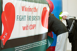 "The launch of the ""Winning The Fight For Breath  with COPD Campaign"" in Meadowhall Shopping Centre Sheffield on Saturday 18th February 2012..www.pauldaviddrabble.co.uk..18th February 2012 -  Image © Paul David Drabble"