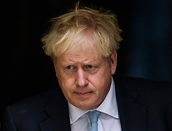 © Licensed to London News Pictures. 03/10/2019. London, UK. PM BORIS JOHNSON is seen leaving downing street in Westminster, London. The British Prime Minister has sent a new Brexit proposal to the EU ahead of an EU summit later this month. Photo credit: Ben Cawthra/LNP