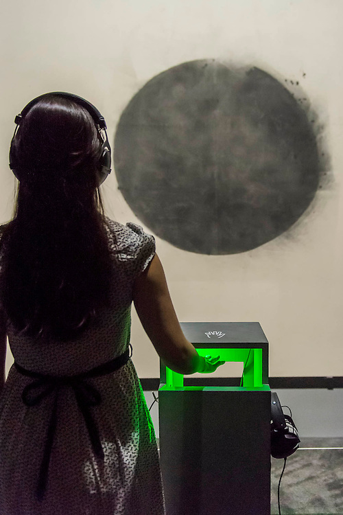 Full Stop by John Latham. Tate Sensorium, a new immersive art experience where visitors can taste, touch, smell and hear artworks in the collection - it is the winning project of IK Prize 2015. The Sensorium is made up of four iconic twentieth century works by: Francis Bacon – which can be tasted through chocolates created by master chocolatier Paul A. Young; David Bomberg – smelt using scented candles; Richard Hamilton – sensed through sound and smell; and John Latham – which can be experienced via the sensation of touch by inserting ones hands into the 'touchless' speakers. Tate Sensorium runs at Tate Britain from 26 August to 20 September 2015 – it is free but must be booked.