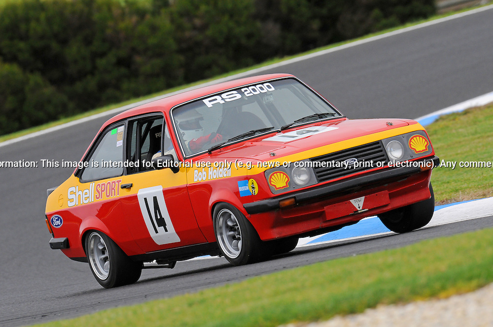Greg Keam - Ford Escort RS 2000 - Group D.Historic Motorsport Racing - Phillip Island Classic.18th March 2011.Phillip Island Racetrack, Phillip Island, Victoria.(C) Joel Strickland Photographics.Use information: This image is intended for Editorial use only (e.g. news or commentary, print or electronic). Any commercial or promotional use requires additional clearance.