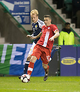 Canada&rsquo;s Fraser Aird goes past Scotland&rsquo;s Steven Naismith - Scotland v Canada, friendly international at EasterRoad, Edinburgh.Photo: David Young<br /> <br />  - &copy; David Young - www.davidyoungphoto.co.uk - email: davidyoungphoto@gmail.com