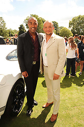 Left to right, COLIN JACKSON and JAMIE BAULCH at the Salon Prive - the 5th Luxury Super Car Event and Concours D'Elegance held at The Hurlingham Club, London SW6 on 21st July 2010.