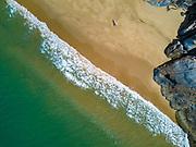 Aerial view of a beach along the eastern coast of Australia.
