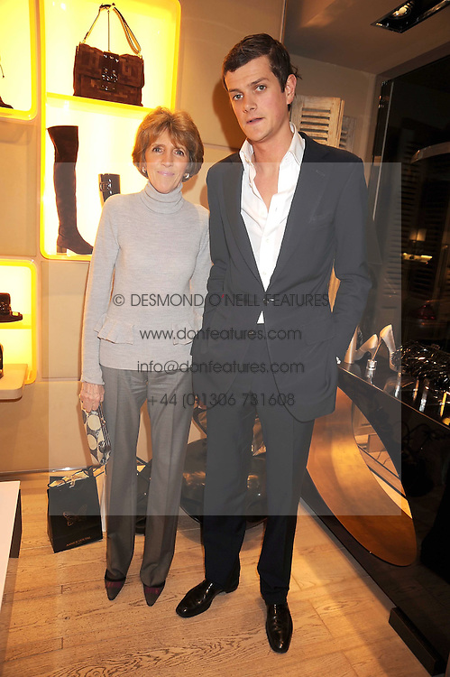 LADY JANE SPENCER-CHURCHILL and the HON.ALEXANDER SPENCER-CHURCHILL at a party at Roger Vivier, Sloane Street, London on 2nd December 2008.