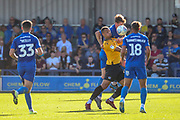 AFC Wimbledon defender Ryan Delaney (21) battles for possession during the EFL Sky Bet League 1 match between AFC Wimbledon and Bristol Rovers at the Cherry Red Records Stadium, Kingston, England on 21 September 2019.