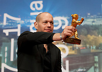 Director and writer Nadav Lapid winner of the Golden Bear for Best Film for Synonymes at the award winners press conference at the 69th Berlinale International Film Festival, on Saturday 16th February 2019, Hotel Grand Hyatt, Berlin, Germany.