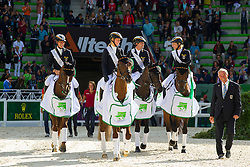 Team GER world champion in the team test eventing - Alltech FEI World Equestrian Games™ 2014 - Normandy, France.<br /> © Hippo Foto Team - Leanjo De Koster<br /> 31-08-14