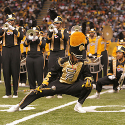 2008 November, 29: The Grambling State band performs during halftime of the 35th annual State Farm Bayou Classic at the Louisiana Superdome in New Orleans, LA.  .