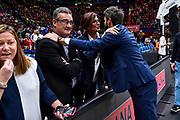 Gianmarco Pozzecco, Luca Filippone<br /> A|X Armani Exchange Olimpia Milano - Banco di Sardegna Dinamo Sassari<br /> Legabasket LBA Serie A 2019-2020<br /> Sassari, 16/11/2019<br /> Foto L.Canu / Ciamillo-Castoria