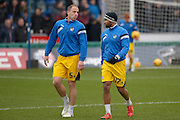 Mark McChrystal of Bristol Rovers and Jermaine Easter of Bristol Rovers during the Sky Bet League 2 match between Wycombe Wanderers and Bristol Rovers at Adams Park, High Wycombe, England on 27 February 2016. Photo by Dennis Goodwin.