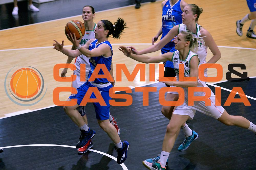 DESCRIZIONE : Roma Amichevole Pre Eurobasket 2015 Nazionale Italiana Femminile Senior Italia Ungheria Italy Hungary<br /> GIOCATORE : Francesca Dotto<br /> CATEGORIA : tiro sottomano sequenza<br /> SQUADRA : Italia Italy<br /> EVENTO : Amichevole Pre Eurobasket 2015 Nazionale Italiana Femminile Senior<br /> GARA : Italia Ungheria Italy Hungary<br /> DATA : 15/05/2015<br /> SPORT : Pallacanestro<br /> AUTORE : Agenzia Ciamillo-Castoria/Max.Ceretti<br /> Galleria : Nazionale Italiana Femminile Senior<br /> Fotonotizia : Roma Amichevole Pre Eurobasket 2015 Nazionale Italiana Femminile Senior Italia Ungheria Italy Hungary<br /> Predefinita :