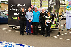 Pictured: PC  Heather Still, Divisional Road Policing; Sandy Allan, ROSPA, Ian Edwards (76) Rospa, Sergent Ross Drummond,Divisional Road Policing and PC Louise Cassidy, Youth Community Officer<br /> <br /> Destination Drive launch. The initiative aims to help older drivers stay safe on the road. Open invitation to first drop-in session where you can get a free assessment drive and try the current theory and hazard perception tests. <br /> <br /> Ger Harley | EEm 12 June 2018