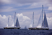 Blue Too Sailing in the 2011 St. Barths Bucket Race 2.