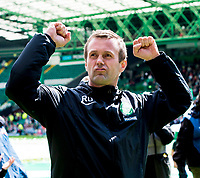 24/05/15 SCOTTISH PREMIERSHIP<br /> CELTIC v INVERNESS CT<br /> CELTIC PARK - GLASGOW<br /> Celtic manager Ronny Deila celebrates