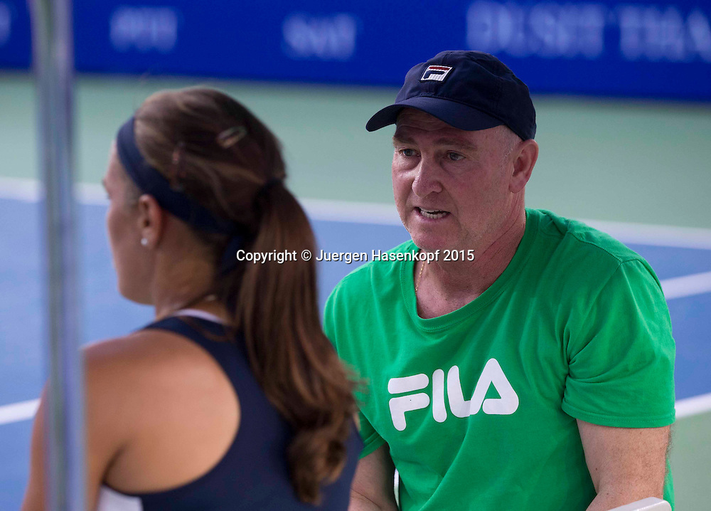 Monica Puig (PUR) und Trainer Ricardo Sanchez<br /> <br /> Tennis - PTT Thailand Open 2015 - WTA -  Dusit Thani Hotel - Pattaya - Chonburi - Thailand  - 9 February 2015.