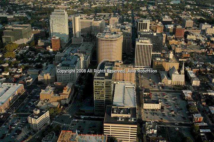 Aerial view of DuPont Building, Wilmington, DE,