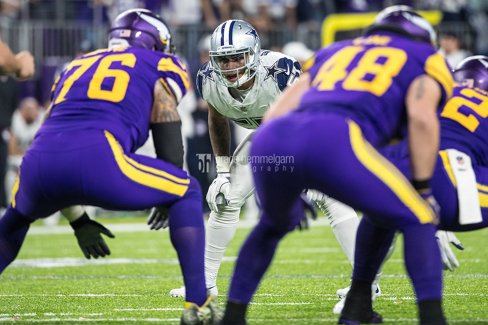 Dec 1, 2016; Minneapolis, MN, USA; Dallas Cowboys linebacker Damien Wilson (57) during a game between the Dallas Cowboys and Minnesota Vikings at U.S. Bank Stadium. The Cowboys defeated the Vikings 17-15. Mandatory Credit: Brace Hemmelgarn-USA TODAY Sports