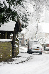 Monday January 21 Saint Marys Church Lytchgate on Priory Road,  Winter Weather reaches Ecclesfield in Sheffield South Yorkshire with the promise of more to follow .21 January 2013.Image © Paul David Drabble