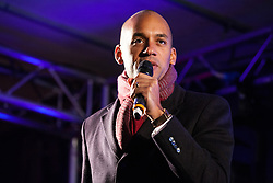London, UK. 15th January, 2019. Chuka Umunna, Labour MP for Streatham, addresses pro-EU activists attending a People's Vote rally in Parliament Square as MPs vote in the House of Commons on Prime Minister Theresa May's proposed final Brexit withdrawal agreement.