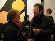 Gary Wragg and Mathew  Collings. John McLean private view, Flowers Central, 21 Cork Street,  8 January 2003. W1© Copyright Photograph by Dafydd Jones 66 Stockwell Park Rd. London SW9 0DA Tel 020 7733 0108 www.dafjones.com