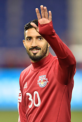 "October 30, 2017 - Harrison, New Jersey, U.S - New York Red Bulls midfielder GONZALO VERÃ""N (30) at Red Bull Arena prior to the Audi 2017 MLS Cup Playoffs Eastern Conference Semifinal in Harrison New Jersey Toronto defeats New York 2 to 1 (Credit Image: © Brooks Von Arx via ZUMA Wire)"