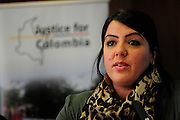 Latin America 2014 Conference<br /> Adelante!<br /> <br /> 'Peace and Protest in Columbia' seminar<br /> Mariela Kohon<br /> Justice for Columbia Campaign