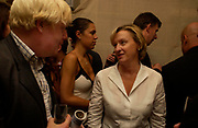 Boris Johnson and Tina Brown. Spectator party. Doughty St. London. 28 July 2005.