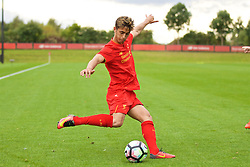 KIRKBY, ENGLAND - Saturday, September 24, 2016: Liverpool's Yan Dhanda in action against Everton during the Under-18 FA Premier League match at the Kirkby Academy. (Pic by David Rawcliffe/Propaganda)