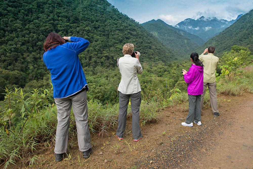 South America; Peru; Amazonia; Manu; National Park; UNESCO; World Heritage; road through cloud forest