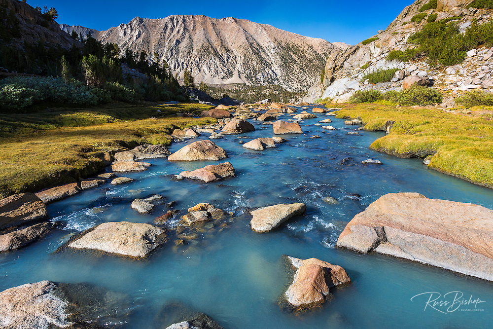 Stream in Sam Mack Meadow, John Muir Wilderness, Sierra Nevada Mountains, California