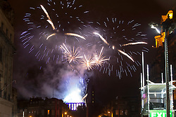 9pm Countdown Fireworks lit from Edinburgh Castle.<br /> Edinburgh&rsquo;s Hogmanay 2013.