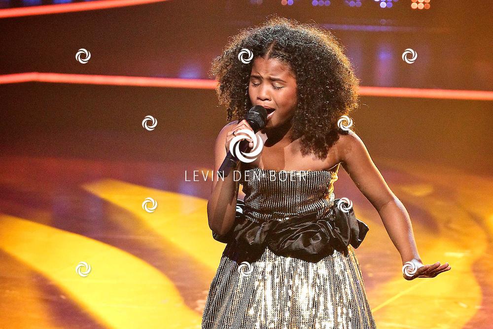 HILVERSUM - De tweede live show van Hollands Got Talent met diversen optredens. Met op deze foto  de 11 jarige Aliyah Kolf. FOTO LEVIN DEN BOER - PERSFOTO.NU