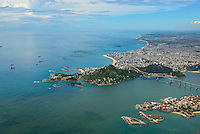 Brasil - Espirito Santo - Vila Velha - Vista aerea da Praia da Costa e Morro do Moreno - Foto: Gabriel Lordello/ Mosaico Imagem