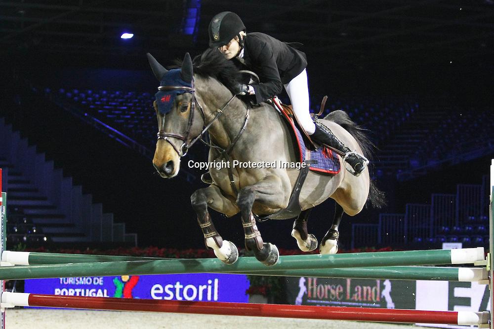 Equitation : Gucci Masters - 03.12.2010 - Rolex Speed Challenge CSI5 - Malin Bayard Johnsson (SUE/ sur Cisco SWB) *** Local Caption *** 00042820