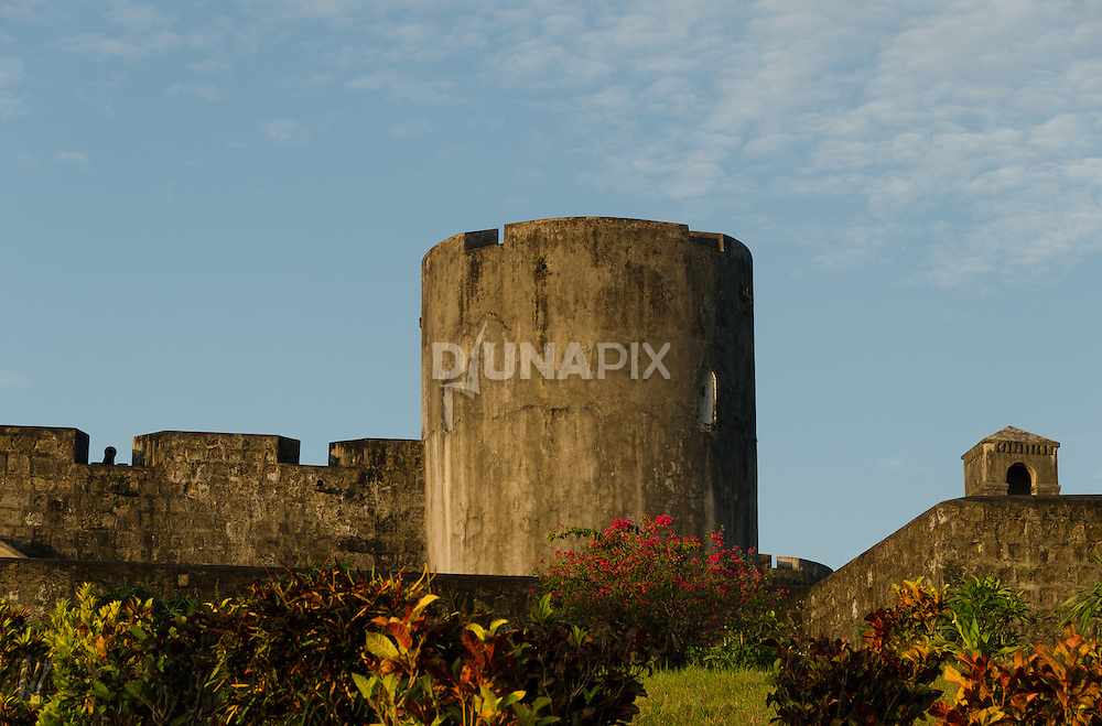Watch towers at Fort Belgica, Banda Neira.