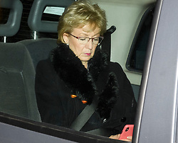 © Licensed to London News Pictures. 06/02/2019. London, UK. Leader of the House of Common ANDREA LEADSOM arrives at Battersea Park in London for the annual Black and White Ball, a fundraiser held by the Conservative Party. Photo credit: Ben Cawthra/LNP
