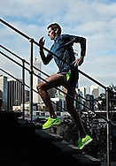 PERTH, AUSTRALIA - JUNE 13: Aaron Scott runs at Jacobs Tower on June 13, 2012 in Perth, Australia. (Photo by Paul Kane)