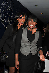 Left to right, singers SHAZNAY LEWIS and MICHELLE GAYLE at the annual WIE (Women: inspiration and enterprise) Awards held after the WIE Symposium... A day of inspirational talks by thought leaders and opinion formers to give young women the tools to succeed in business and life held at The Hospital Club, Endell Street, London on 8th March 2012.