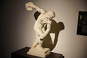 "Discobolus of Myron (""discus thrower""), Statue from Lego building blocks at the Holon Children's museum. Holon, Israel"