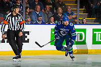 KELOWNA, BC - SEPTEMBER 29: Derrick Pouliot #5 of the Vancouver Canucks skates against the Arizona Coyotes at Prospera Place on September 29, 2018 in Kelowna, Canada. (Photo by Marissa Baecker/NHLI via Getty Images)  *** Local Caption *** Derrick Pouliot;