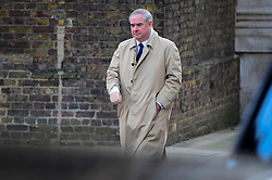 © Licensed to London News Pictures. 04/12/2018. LONDON, UK. Geoffrey Cox QC MP, Attorney General attends the weekly Cabinet Meeting at Number 10 Downing Street in London, Britain, on December 4, 2018.  John Bercow, Speaker of the House, has stated that the government may be in contempt of Parliament for declining to release its full legal advice on Britain's exit from the European Union.  This issue is to be debated in the House of Commons after the Cabinet Meeting and will delay the start of MP's debating Theresa May's Brexit agreement with the European Union, ahead of their vote on December 11.  Photo credit: Stephen Chung/LNP