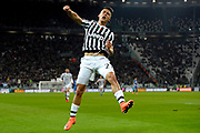 © Filippo Alfero<br /> Juventus-Sassuolo, Serie A 2015/2016<br /> Torino, 11/03/2016<br /> sport calcio<br /> Nella foto: esultanza Paulo Dybala dopo gol