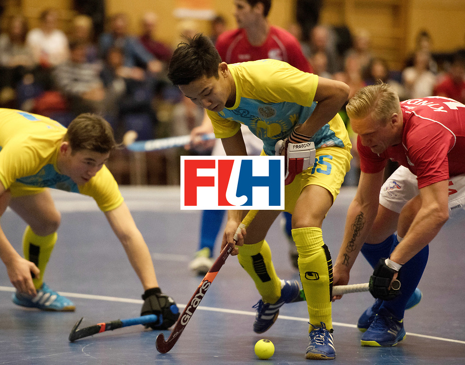 BERLIN - Indoor Hockey World Cup<br /> Kazachstan - Czech Republic<br /> foto: YELUBAYEV Aman<br /> WORLDSPORTPICS COPYRIGHT FRANK UIJLENBROEK